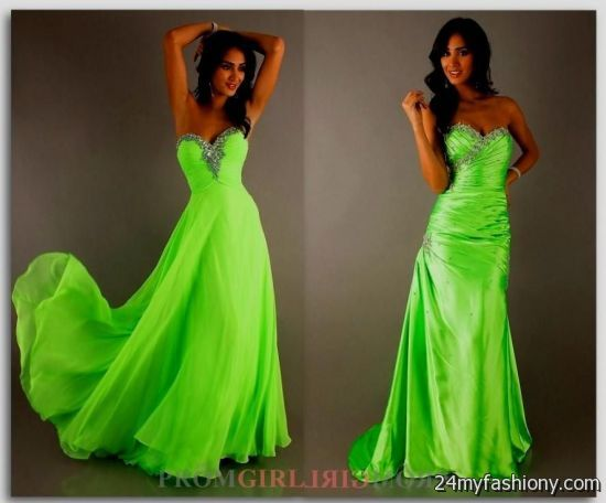 Black and neon green wedding dresses