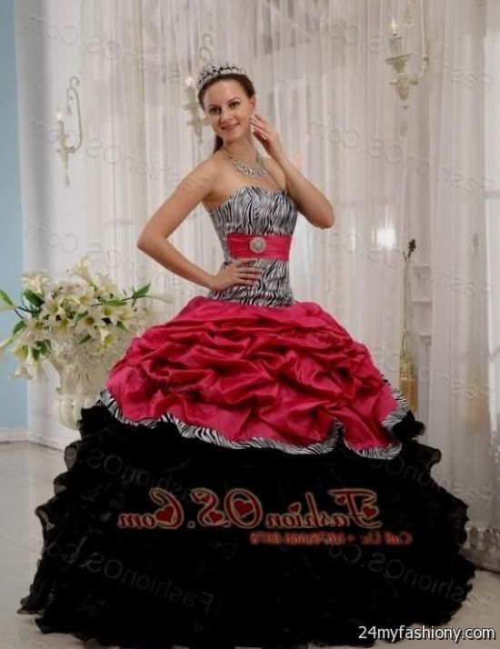 7688819f25 You can share these black and pink quinceanera dresses on Facebook