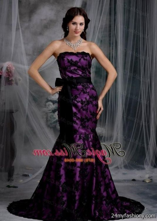 Black And Purple Prom Dresses - Discount Evening Dresses