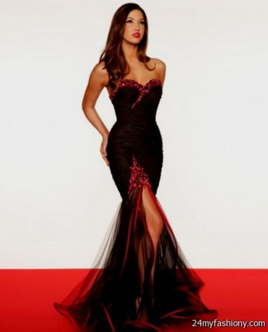 black and red ball gown 2016-2017 | B2B Fashion