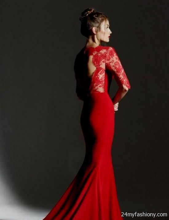black and red lace wedding dress 2016-2017