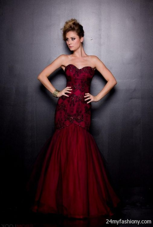 Red And Black Mermaid Prom Dresses - Prom Dresses With Pockets