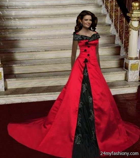 black and red wedding dresses 2016-2017 | B2B Fashion