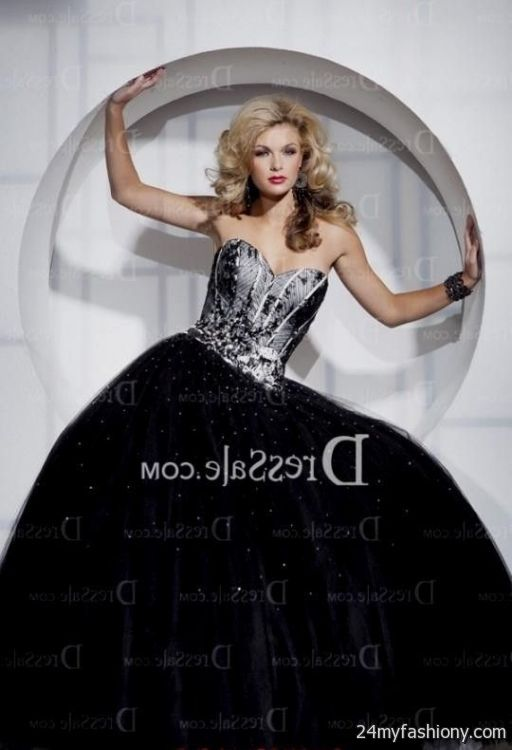 d241da0d8b You can share these black and silver quinceanera dresses on Facebook