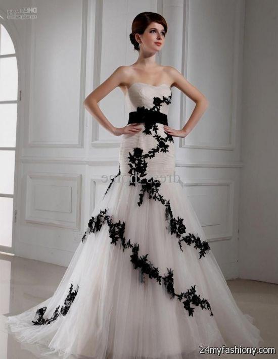 black and white mermaid prom dress looks