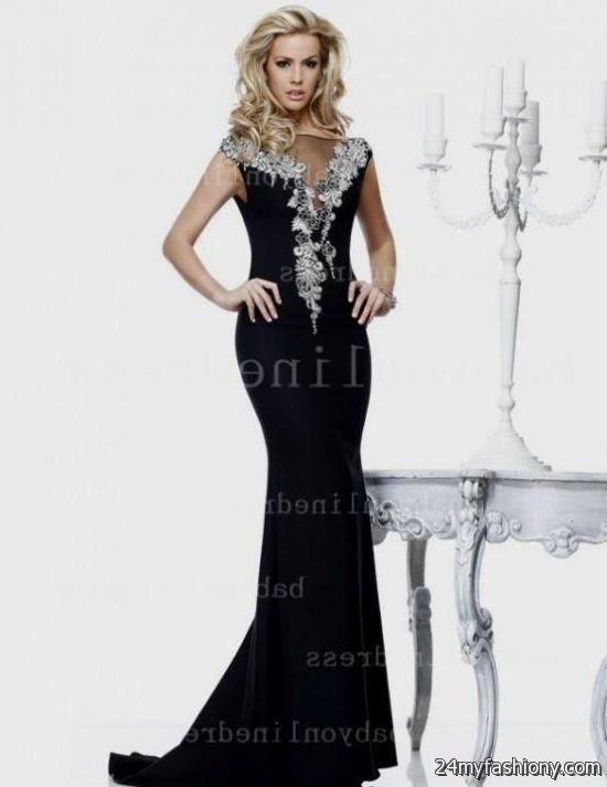black and white prom dress mermaid wwwimgkidcom the