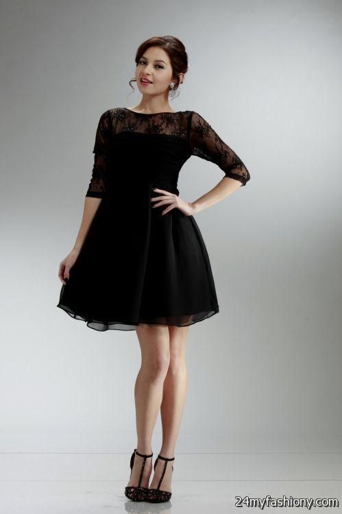 Black Bridesmaid Dress With Sleeves - Wedding Dress Ideas