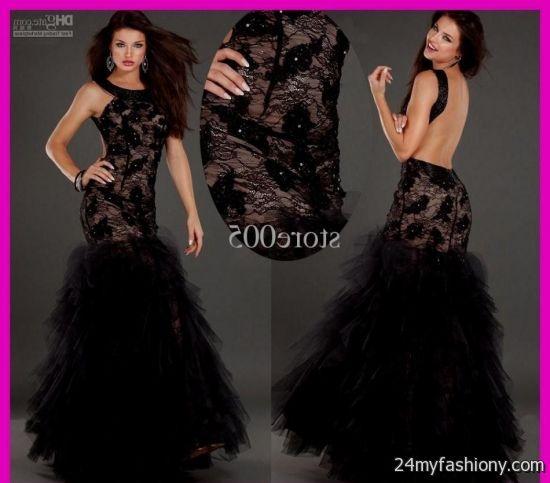 black lace mermaid prom dresses 20162017 b2b fashion