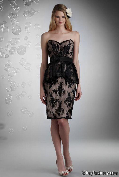 black lace sweetheart bridesmaid dresses 2016-2017 » B2B Fashion