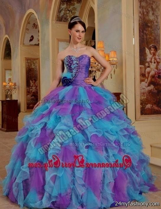 blue and purple and green quinceanera dresses 2016-2017 | B2B Fashion