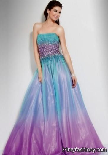 Purple Ombre Quinceanera Dresses