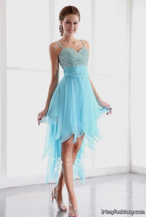 blue high low dresses for teenagers with straps 2016-2017 » B2B ...