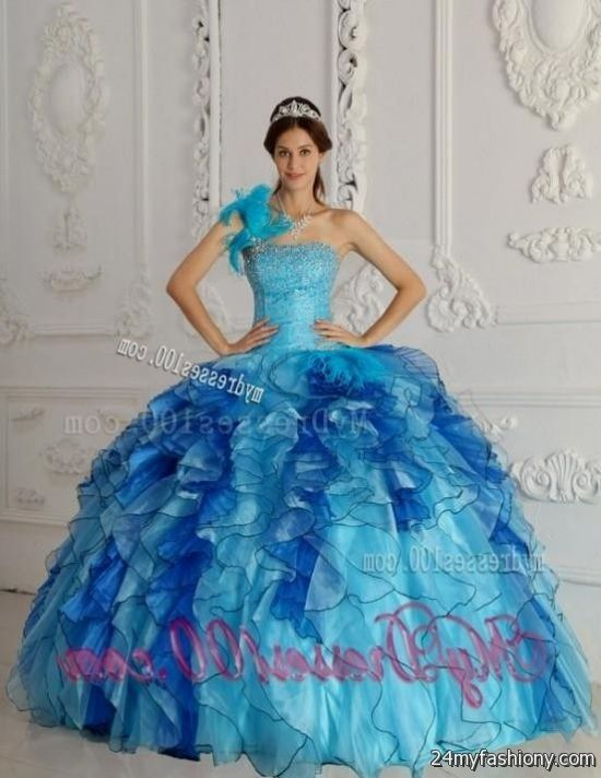 Blue Ombre Quinceanera Dress 2016 2017 B2b Fashion
