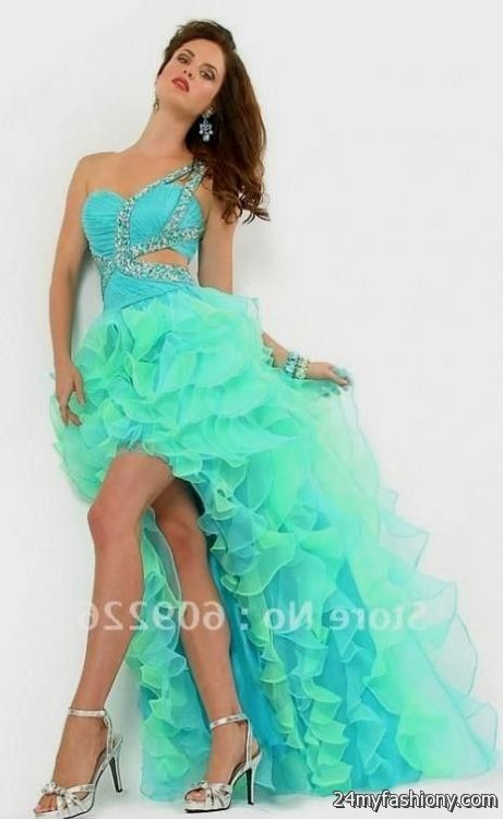 blue prom dresses short in front long in back 2016-2017 | B2B Fashion