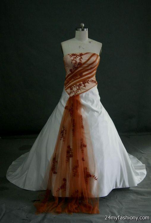 Burnt Orange Wedding Dress 2016 2017