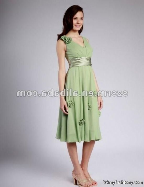 Light green casual dresses