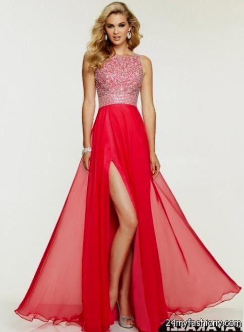 chiffon long prom dresses with slits 2016-2017 | B2B Fashion