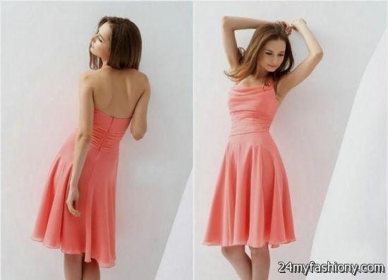 Coral Halter Cocktail Dress Looks
