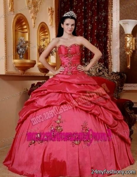 875bb43c7d1 You will be the queen of the ball in one of these elegant and poised prom  dresses. You can share these coral quinceanera dresses tumblr on Facebook  ...