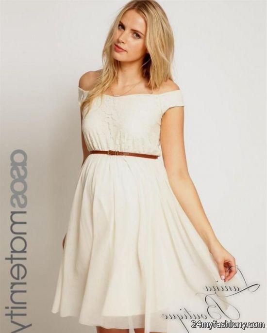 Cream Lace Maternity Dress