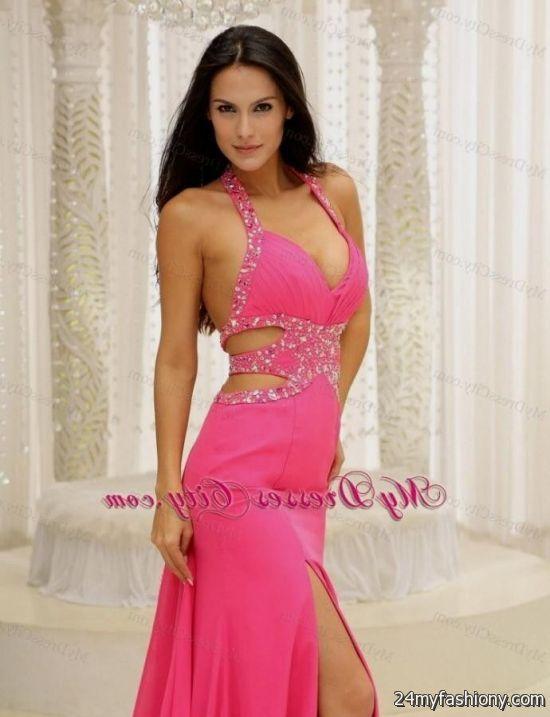 Color Neon Pink Prom Dresses 2017 Fashion Dresses