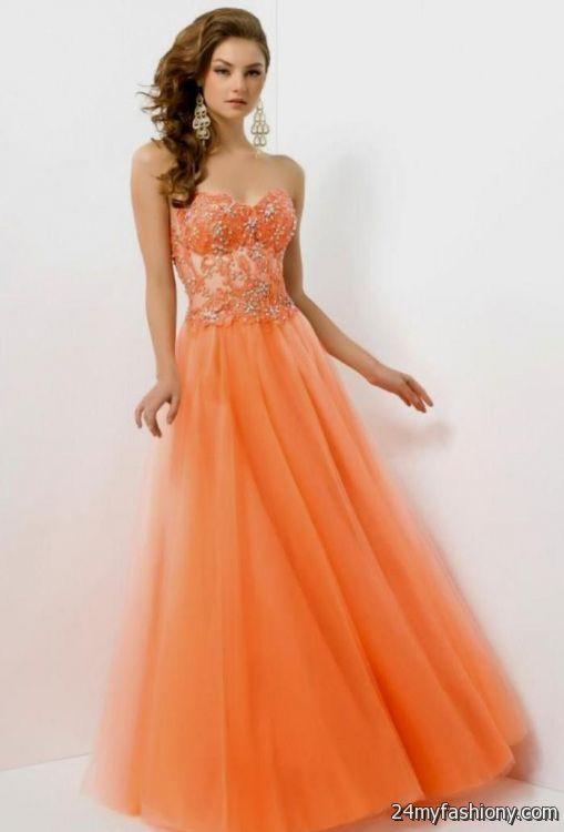 Cute orange prom dresses