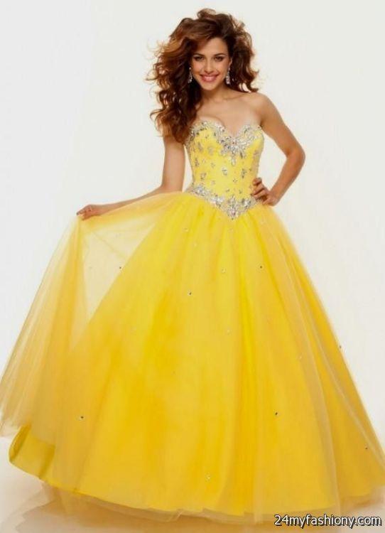 Cute Yellow Prom Dresses Looks B2b Fashion