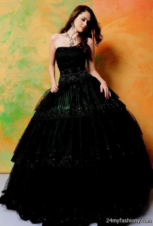Dark Green And Black Quinceanera Dresses Looks B2b Fashion