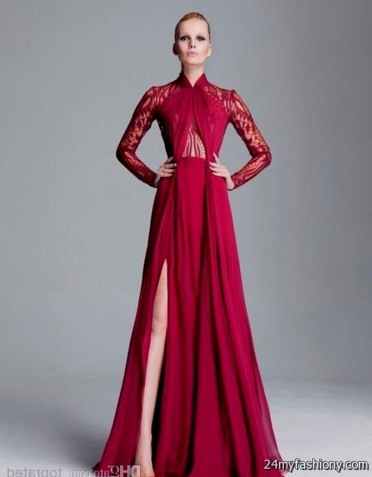 Dark Red Lace Prom Dress - Missy Dress