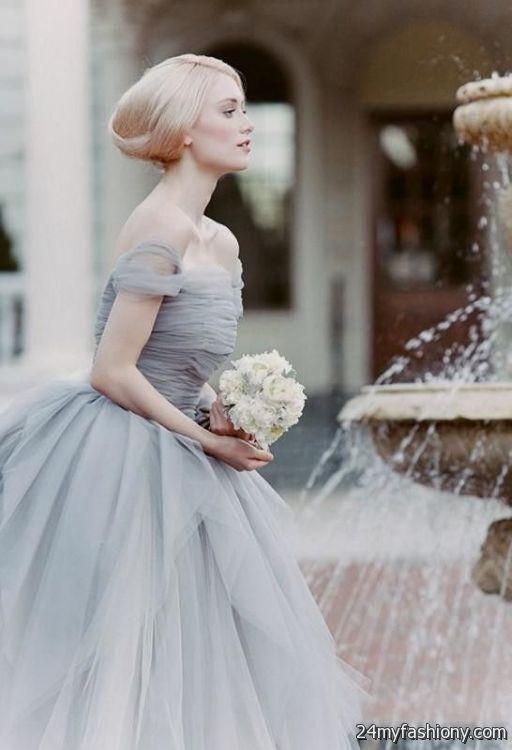 dusty blue wedding dress 2016-2017   B2B Fashion