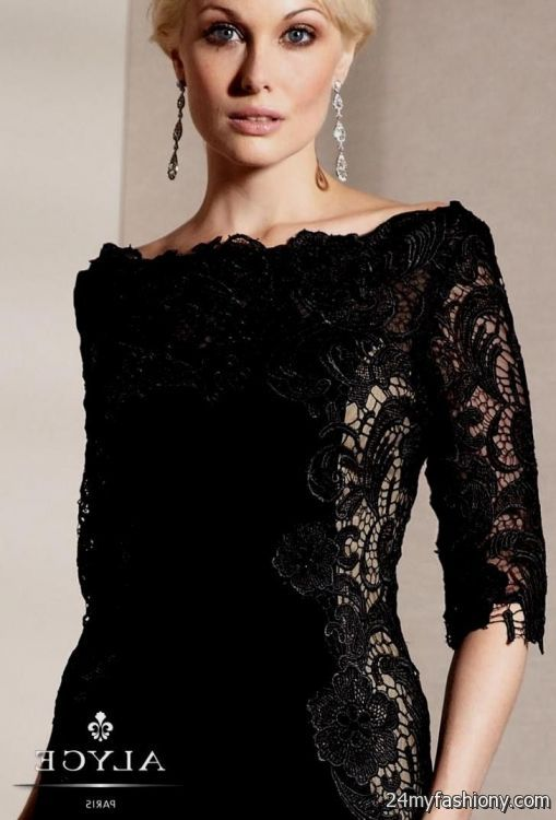elegant black lace dresses - photo #1
