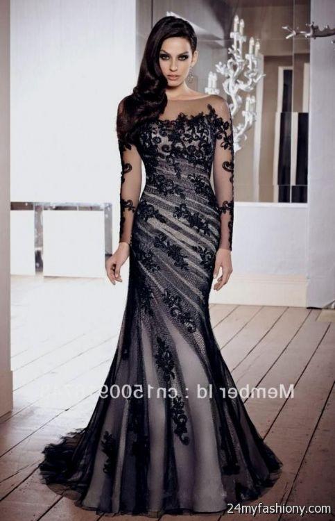 elegant evening gown black 2016-2017 | B2B Fashion