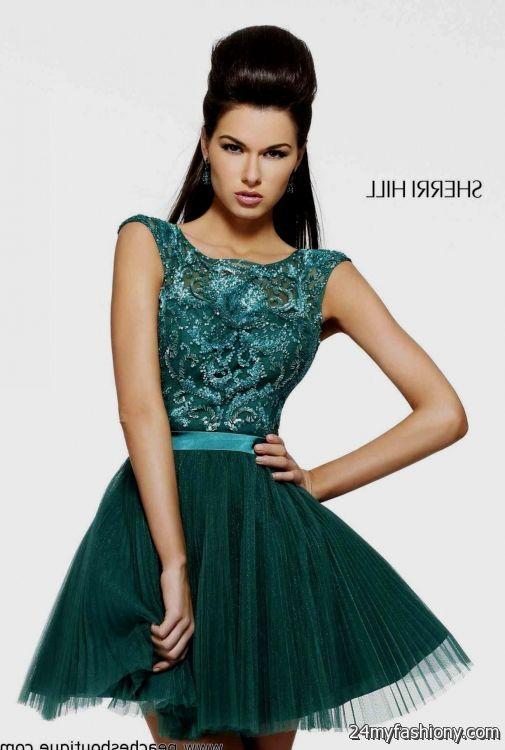emerald green short homecoming dress 2016-2017 » B2B Fashion