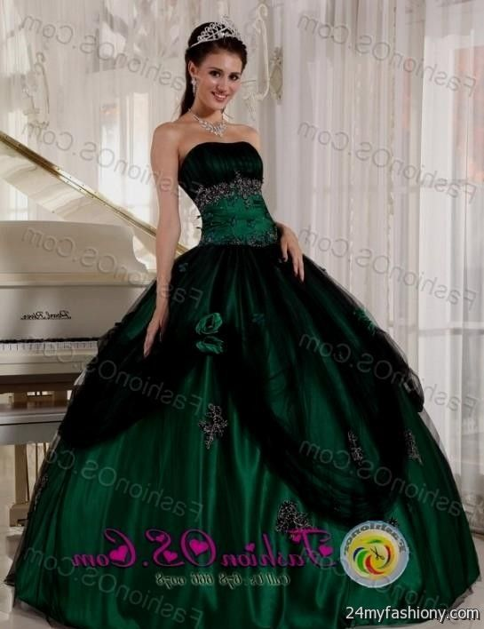 Forest Green Ball Gowns Looks B2b Fashion