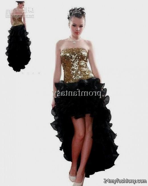 gold and black high low dress 2016-2017 » B2B Fashion