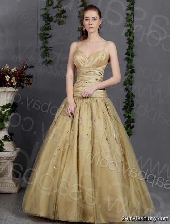 Gold Ball Gown Dresses Looks B2b Fashion