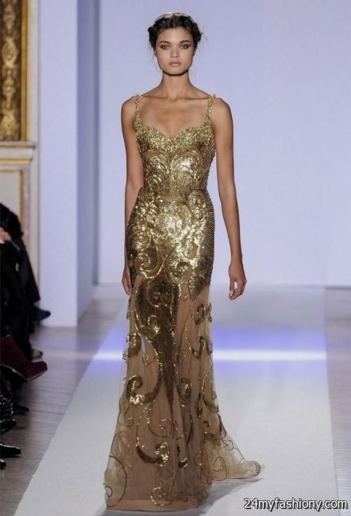 gold beaded gown 2016 2017 b2b fashion