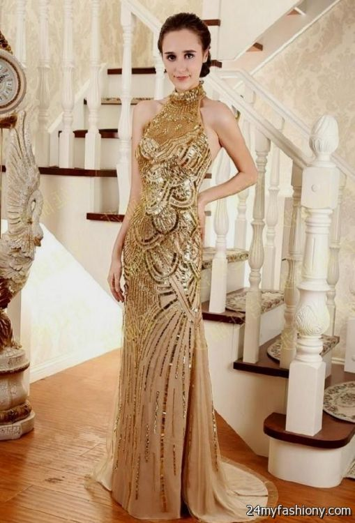 gold beaded wedding dress 2016-2017 » B2B Fashion