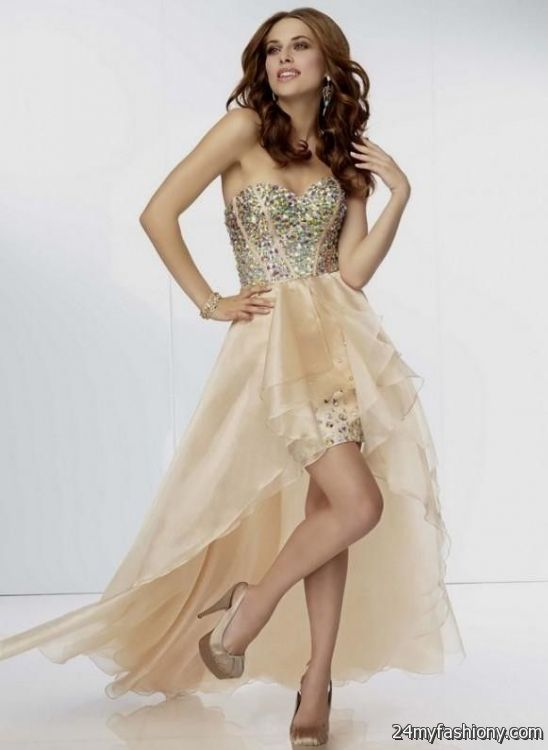 gold high low prom dress | Gommap Blog