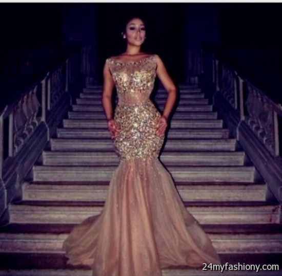 Quinceanera Dresses 2014 Mint gold mermaid prom dres...