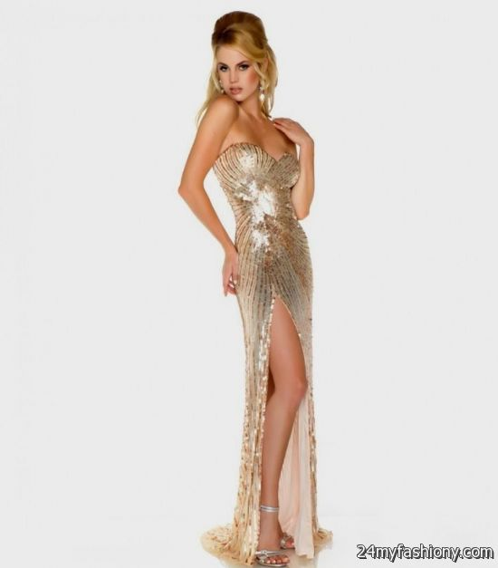 gold sequin prom dresses 2016-2017 » B2B Fashion
