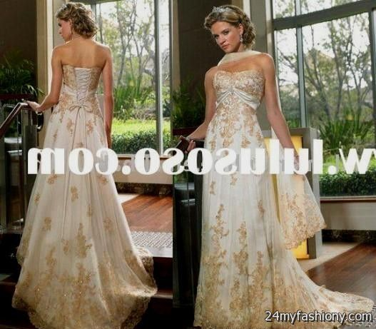 Vintage Wedding Dresses Gold : You can share these gold vintage wedding dresses on facebook stumble