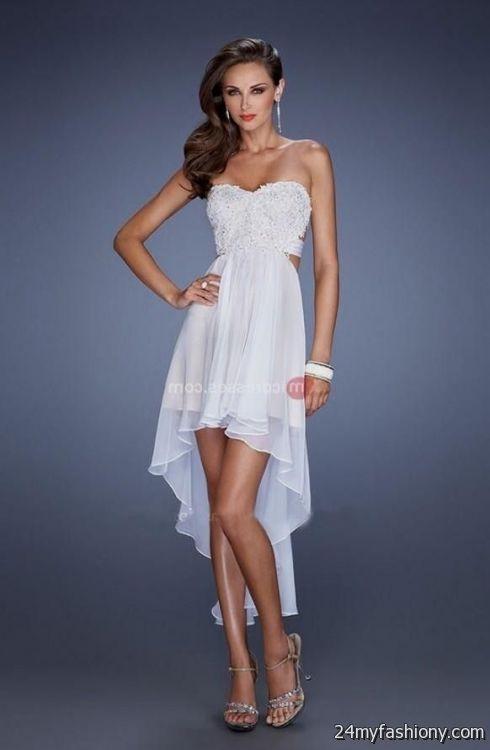 High Low Dress White