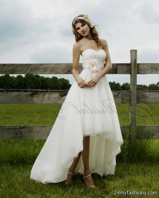 Wedding Dresses With Boots: High Low Wedding Dresses With Cowboy Boots Looks