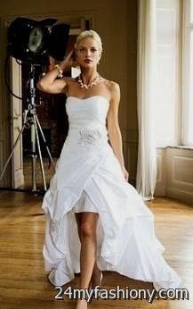 high low wedding dresses with cowboy boots 2016-2017 | B2B Fashion