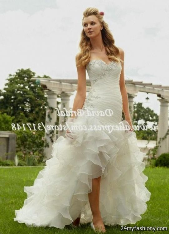 High low prom dresses with cowboy boots for High low wedding dresses with cowboy boots