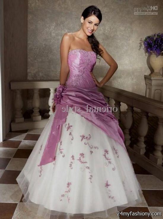 Hot pink and white wedding dresses 2016 2017 b2b fashion for White and pink wedding dress