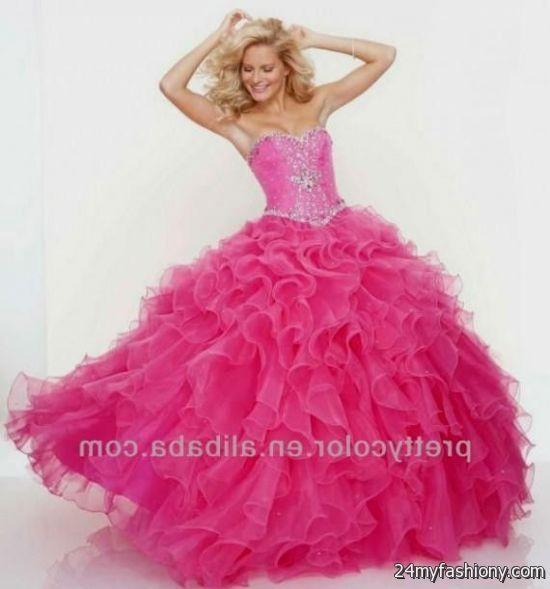hot pink corset prom dresses 2016-2017   B2B Fashion