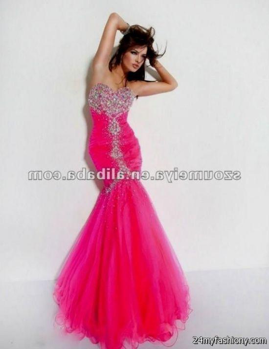 Pink Prom Dresses 2012