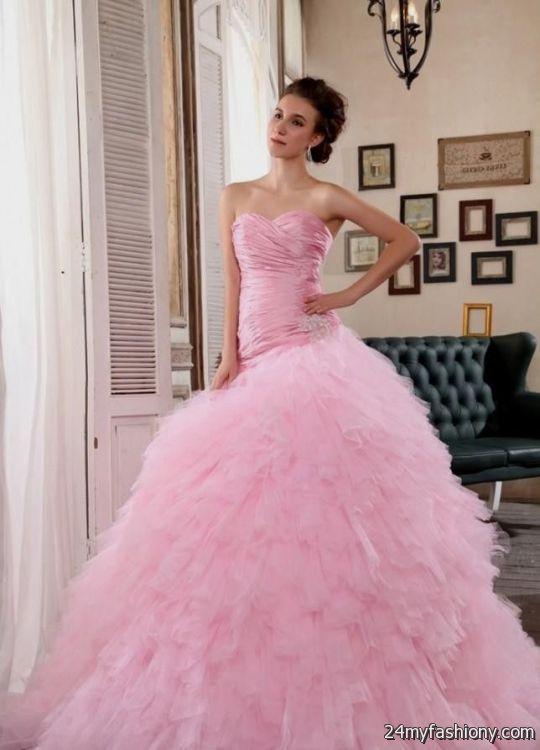 Huge Ball Gown Wedding Dresses Pink 2016 2017